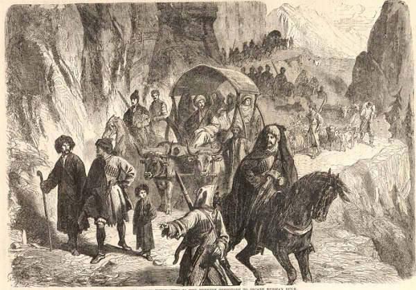 Demir atları Çerkes ataları için sürdüler